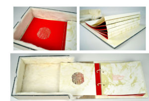"""""""Lining"""" - a collaborative artists book project between Lee Emma Running and Denise Bookwalter"""